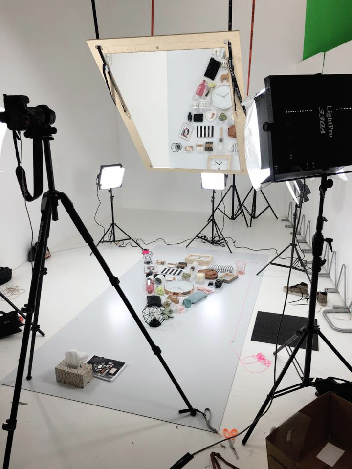 Behind the Scenes Flat Lay